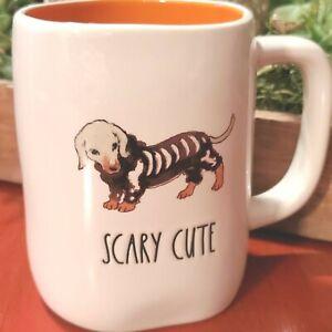 Rae Dunn Mug Halloween Scary Cute Dachshund Skeleton Costume