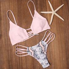 Donne Bendare Bikini Imbottito Reggiseno Costume da bagno bagnarsi Completo