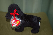 GiGi  the Black POODLE Dog - Ty Beanie Baby  - MWMT - Too Cute - Fast Shipping