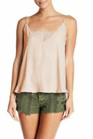 Free People Women's Deep V Bandeau Lace Inset Camisole Top Alabaster Size XS