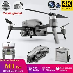 2021 M1 Pro 2 Drone 2-Axis Gimbal Camera 6k HD 5G Wifi GPS TF Card Drone 3KM