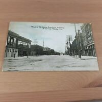 Main Street from Engine House Salvation Army Owosso MI Michigan 1909 Postcard