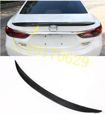 ABS Carbon Fiber Rear Pressure Tail Wing Spoiler For Mazda 6 ATENZA M6 2014-2018