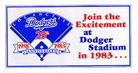 1983 LOS ANGELES DODGERS BASEBALL  SCHEDULE AND TICKET INFORMATION FORM