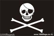 Pirata Calavera Y Huesos Cruzados Jolly Roger Bandera Vinilo Coche Etiqueta De La Ventana