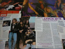 LYNCH MOB - MAGAZINE POSTER/CUTTINGS COLLECTION (REF S16)