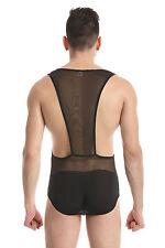 Body débardeur noir taille L transparence sheer plum sexy Ref 328 combinaison
