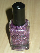 NEW COLOR CLUB NAIL POLISH LACQUER PINK GLITTER 'CANDY CANE' FULL SIZE