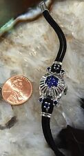 14 K Vintage White Gold Sapphire Gruen Watch Pristine Condition #1236