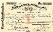 SPAIN & ARGENTINA / BANCO DE GALICIA Y BUENOS AIRES, PROMISSORY NOTE MARCH 1913