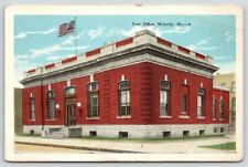 Moberly Missouri~US Post Office~Flag on Roof~1920s Postcard
