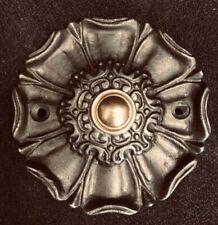 Beautiful Tudor Rose Cast Iron & Brass Door Bell