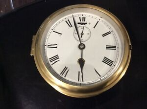Ships Clock, GWO, Good Enamel Dial 160 mm Diameter.
