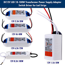 LED Driver Adapter AC 220 -240V To DC12V Transformer Power Supply For LED Strip