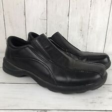 London Underground Gemini Men Black Leather Loafer Shoe Size 10  Pre Owned