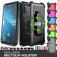 For Samsung Galaxy Note 10/9/8/Note 5 Shockproof Armor Clip Holster Case Cover