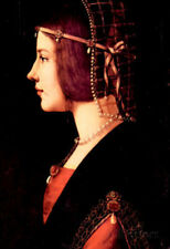 Leonardo Da Vinci Portrait of a Lady Beatrice d'Este Art Print Poster - 13x19