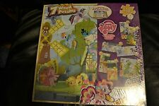 My Little Pony Friendship is Magic 7 Wood Puzzles in Storage Box Rainbow -NEW