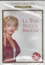 Dvd **LA TUA BOCCA BRUCIA** con Marilyn Monroe nuovo sigillato 1952