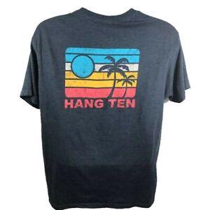 Hang Ten Men's Graphic T-Shirt  Short Sleeve Size XXL in Navy Blue Heather