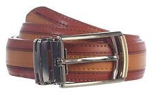 BELT_Men's Premium Handmade Genuine Leather Two Toned 6 Colors Gift_Black/RED