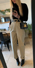 ZARA STONE HIGH WAISTED CHINOS MOM TROUSERS 10 12 M NEW WITH TAG
