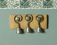 1/12 Scale Dolls House Emporium Victorian Three Servant Bells on Board 5820