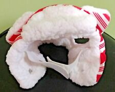 Red & White CANDY CANE Striped Flapper Hat For Cats Size XS/S New CHRISTMAS Hat