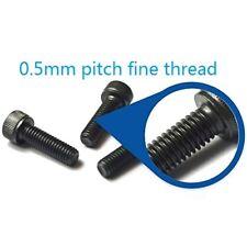 3pcs M4 x 30 mm (0.5mm Pitch) Fine Thread Allen Hex Bolt Socket Head Cap Screw
