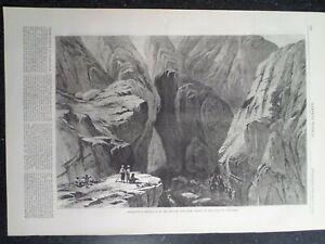 Khojak Pass to Kandahar Afghanistan Pakistan Harper's Weekly 1878