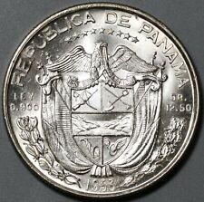1953 Panama 1/2 Balboa UNC Silver Coin (20082104C)