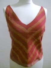 MISSONI Elegant Fitted & Lined Pink Sleeveless Top EURO 42  Superb Condition