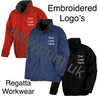 New Embroidered Personalised Regatta Fleece Lined Work Jackets, Highest quality