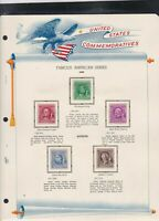 united states commemoratives famous american series 1940 stamps page ref 18261