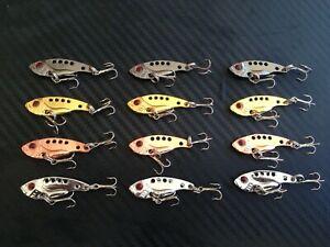 12x Micro Vibes Blades Metal 36mm 3g Lure Fishing Lures Bream Bass Flathead PFS