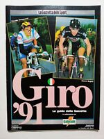 GUIDA GIRO D'ITALIA 1991 GAZZETTA DELLO SPORT 91 GATORADE CHIAPPUCCI BUGNO