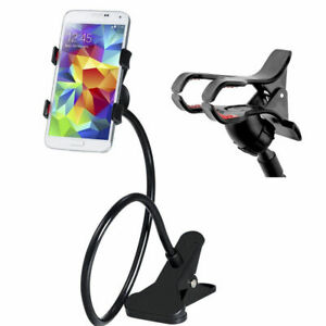 Flexible 360 Clip Holder Lazy Bed Desktop Bracket Mount Stand For iPhone LG ZTE