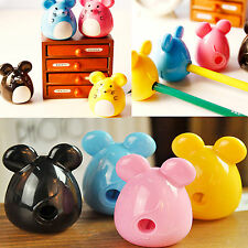 2pcs Cute Cartoon Mouse Pencil Sharpener School Stationary for kids Sutdents