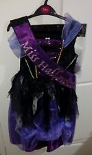 New Girls Miss Halloween/witch/VAMPIRES Fancy Dress Costume and wig 7/8 Yrs