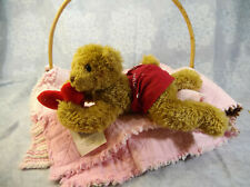 "12"" Hallmark Bunnies by the Bay Bobby Boxer Teddy Bear Plush 2002 Valentine's"