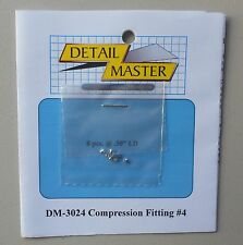 COMPRESSION FITTING #4 1:24 1:25 DETAIL MASTER CAR MODEL ACCESSORY 3024