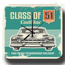Class of CADILLAC vintage garage atelier rétro boite métal SIGNE Horloge murale