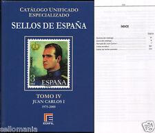 CATALOGO ESPECIALIZADO EDIFIL ESPAÑA TOMO IV 1975 A 2000 SERIE AZUL EDICION 2015