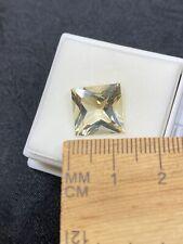 Pretty Faceted Yellow Labradorite Gemstone in JTV Gem Jar- 6.60ct- Estate Find