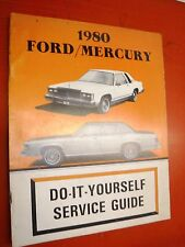 1980 FORD CROWN VICTORIA MERCURY MARQUIS FACTORY DO IT YOURSELF MANUAL SERVICE