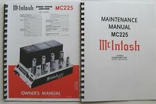 *USA* ULTIMATE MCINTOSH MC225 OWNER'S / MAINTENANCE MANUAL