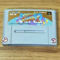 SUPER STREET FIGHTER II 2 SNES CAPCOM Nintendo Super Famicom From Japan