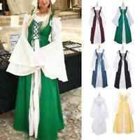 Women Vintage Medieval Renaissance Dress Gothic Cosplay Costume Dresses
