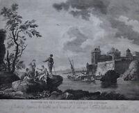 Kupferstich nach J. Vernet,  Frankreich um 1800   (# 3895)