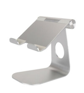 "Tablet Stand Desktop Holder Mount For iPad Pro 12.9"" 11""  iPhone Silver Color"